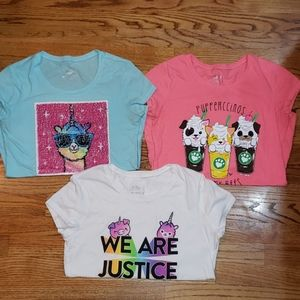 Justice 14/16 shirt lot